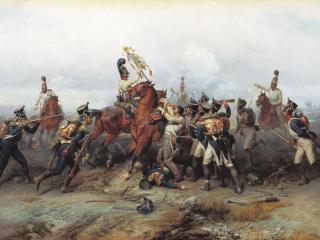 обои Подвиг конного полка в сражении при Аустерлице в 1805 году фото