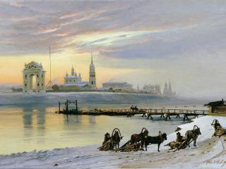 обои Переправа через Ангару в Иркутске фото