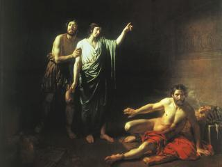 обои Иосиф,   толкующий сны заключённым с ним в темнице виночерпию и хлебодару фото