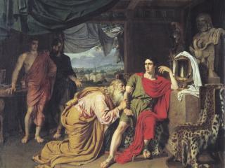 обои Приам,   испрашивающий у Ахиллеса тело Гектора фото