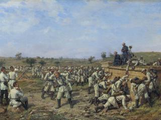обои Привал 140-го пехотного Зарайского полка 35-й пехотной дивизии фото