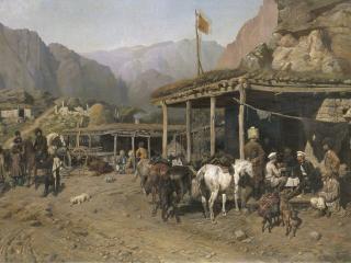обои Привал кавалеристов фото