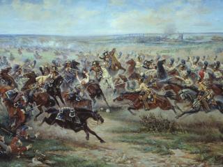 обои Атака лейб-гвардии Конного полка на французских кирасир в сражении под Фридландом 2 июня 1807 года фото