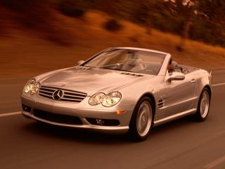 обои Mercedes SL55 AMG Roadster 2003 фото