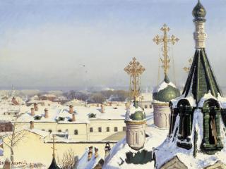 обои Из окна Московского училища живописи,   ваяния и зодчества фото