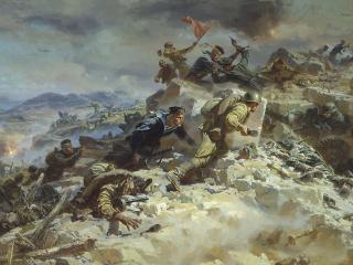 обои МАЛЬЦЕВ П. Штурм Сапун-горы фото