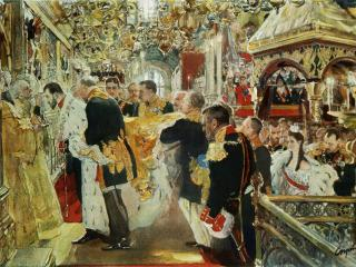 обои Миропомазание императора Николая Александровича фото