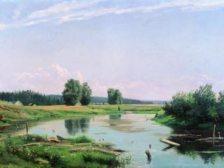 обои Пейзаж с озером фото