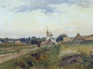 обои Пейзаж с церковью фото