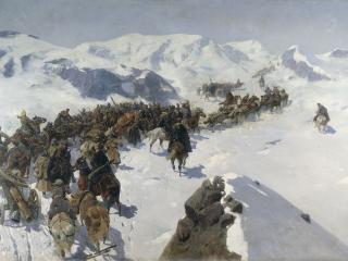 обои Переход князя Аргутинского через Кавказский хребет фото