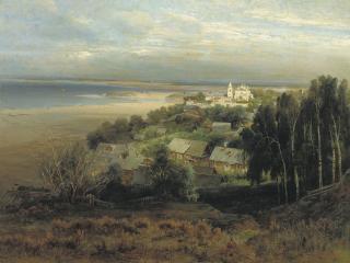 обои Печерский монастырь под Нижним Новгородом фото