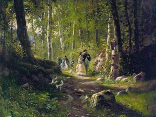 обои Прогулка в лесу фото