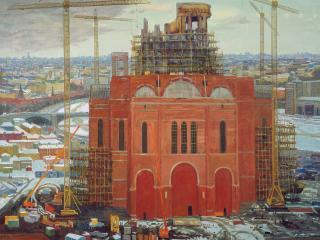 обои Строительство Храма Христа Спасителя фото