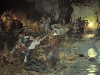 обои Тризна дружинников Святослава после боя под Доростолом фото