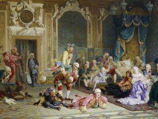 обои Шуты при дворе императрицы Анны Иоанновны фото