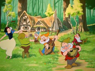 обои Snow White and the Seven Dwarfs фото