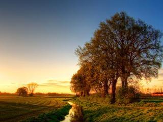 обои Осенняя проселочная дорога фото
