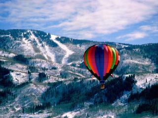 обои Полет на воздушном шаре