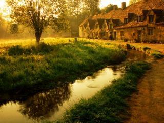 обои Красивое изображение осени в деревне фото