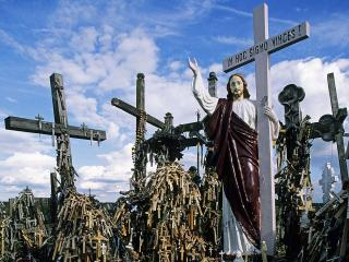 обои Hill of Crosses,   Siauliai,   Lithuania фото