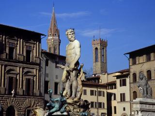 обои Neptune Fountain,   Piazza Della Signoria,   Florence,   Italy фото