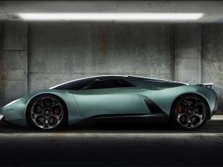 обои Green car in garage фото