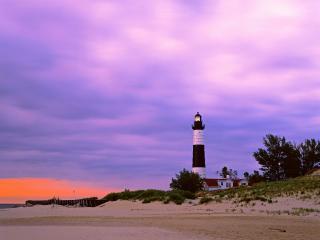 обои Big Sable Point Lighthouse,   Ludington State Park,   Michigan фото