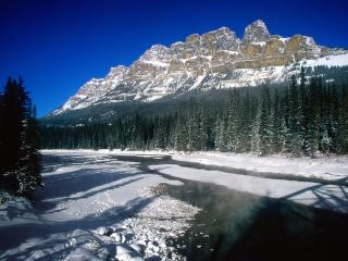 обои Castle Mountain, Banff National Park, Alberta, Canada фото
