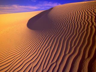 обои Gypsum Sand Dunes in Evening Light,   New Mexico фото