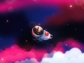 обои Балдеет в космосе фото