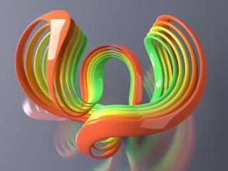 обои Разноцветные 3D линии фото