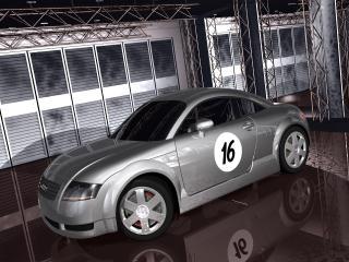 обои Audi TT в гараже фото