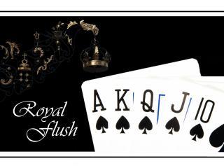 обои Покер комбинация royal flush фото
