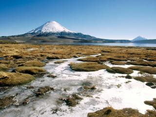 обои Вулкан Париакото в Чили фото
