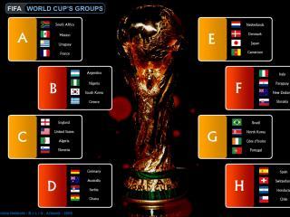 обои Чемпионат мира по футболу FIFA World cup 2010 » Таблица групп Чемпионата мира по футболу фото