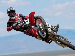обои Мотоцикл в воздухе фото