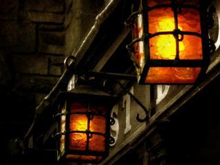 обои Ночные фонари фото