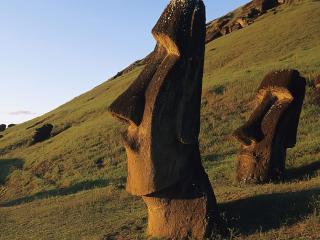 обои Moai Statues фото