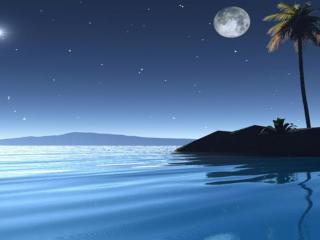 обои Встреча утренней звезды с луной фото