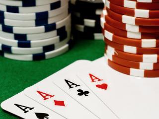 обои Four ace cards фото