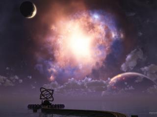 обои Astronomer moon фото