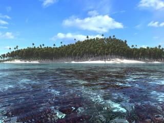 обои Atoll island фото