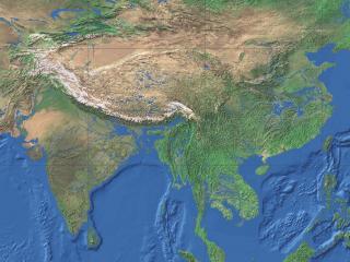 обои Азия на карте фото