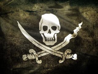 обои Пиратский флаг фото