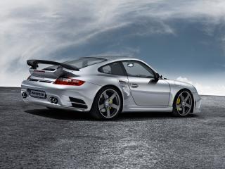 обои Porsche 997 Turbo backside фото