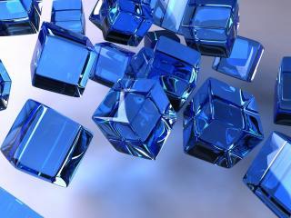 обои Синие кубики фото