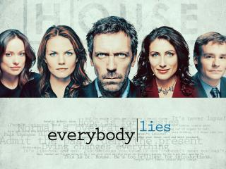 обои Dr.House evrebody lies фото