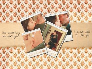 обои Доктор Хаус целуется фото