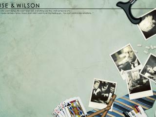 обои Хаус и Вильсон фотографии сигареты карты фото