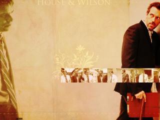 обои Dr.House and Wilson yellow фото